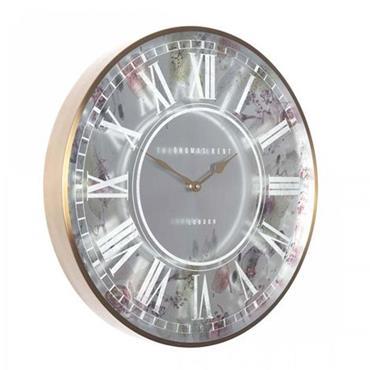 """Thomas Kent 21"""" Eden Wall Clock Brass"""