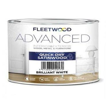Fleetwood  Advanced Quick Drying Satinwood Brilliant White 500ml