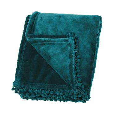 Cashmere Touch Fleece Throw Peacock