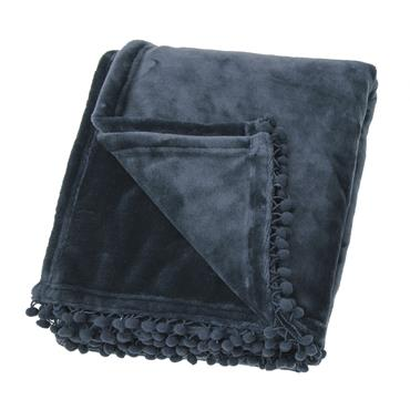 Cashmere Touch Fleece Throw Slate Blue