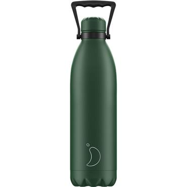 Chilly's Matte Green Water Bottle 1.8L