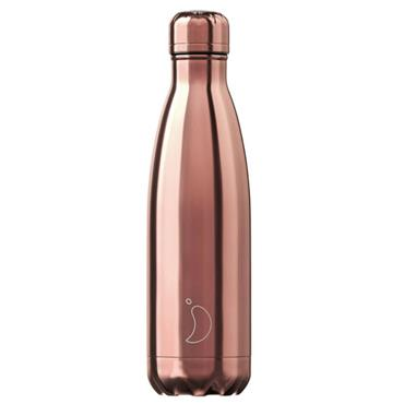 Chilly's Chrome Rose Gold Water Bottle 750ml