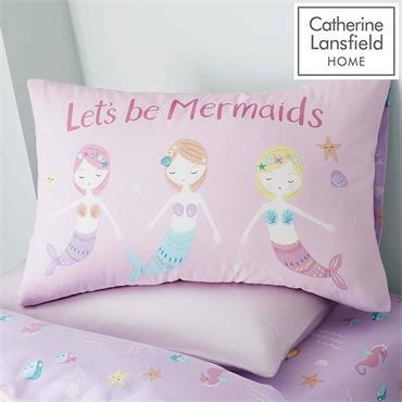 Lets Be Mermaids Pink Duvet Set Single