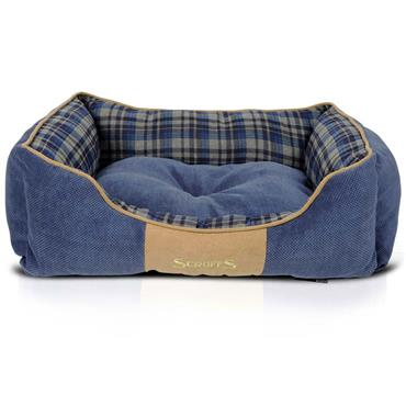 Scruffs Highland Box Bed Large Blue