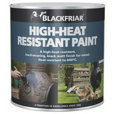 Blackfriar Heat Resistant Paint Black 250ml