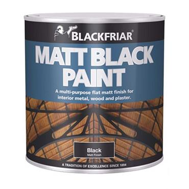 Blackfriar Matt Black Paint 500ml