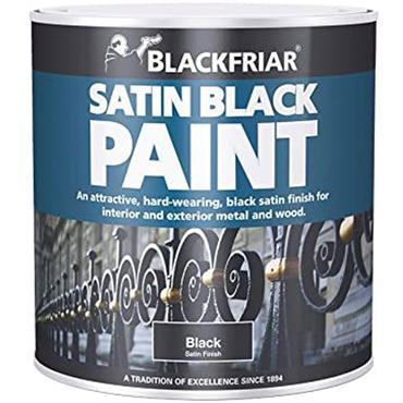 Blackfriar Satin Black Paint 500ml