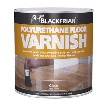 Blackfriar Polyurethane Floor Varnish Gloss Clear 1L