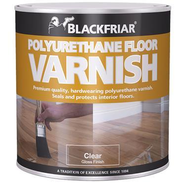 Blackfriar Satin Polyurethane Floor Varnish Clear 1L