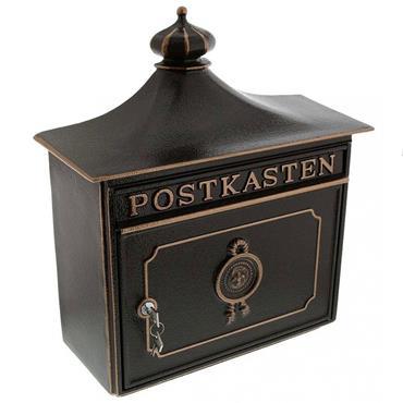 Burg Wachter Post Box Bordeaux Bronze Cast Aluminium