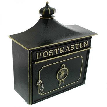 Burg Wachter Post Box Bordeaux Green Cast Aluminium