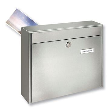 Burg Wachter Post Box Borkum With Rear Slot Stainless Steel