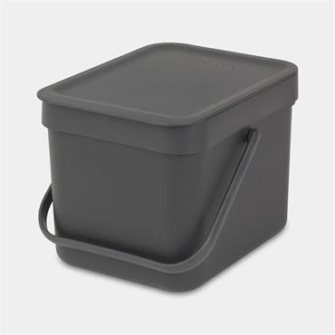 Brabantia Waste Bin Sort & Go Grey 6L