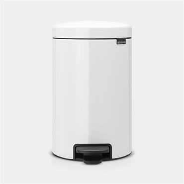 Brabantia Pedal Bin Newicon 12ltr  White  Plastic Bucket
