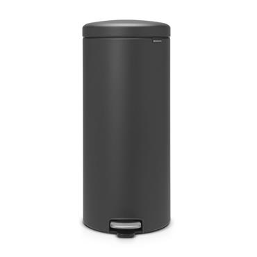 Brabantia Matt Black Newlcon Pedal Bin 30L