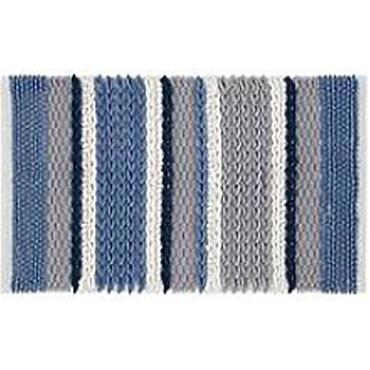 Catherine Lansfield Textured Stripe Mono Bath Mat