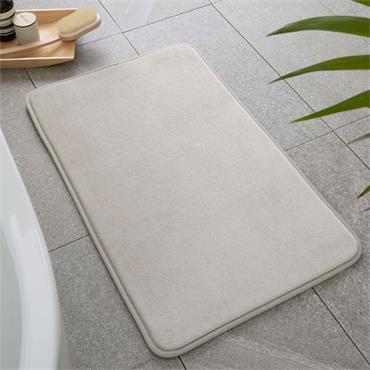 Catherine Lansfield Anti-Bacterial Memory Foam Bath Mat Natural