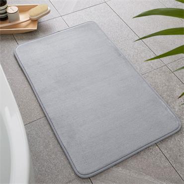 Catherine Lansfield Anti-Bacterial Memory Foam Bath Mat Silver