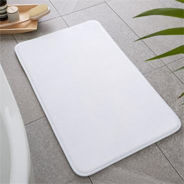 Catherine Lansfield Anti-Bacterial Memory Foam Bath Mat White