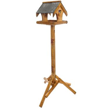Tom Chambers Bronte Bird Table Slate Roof with Post