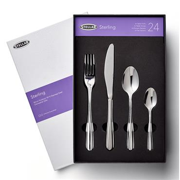 Stellar Sterling 24pce Cutlery Set