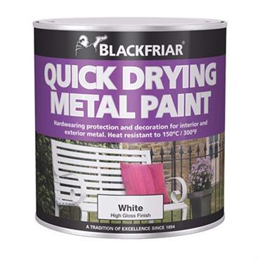 Blackfriar Quick Drying Metal Paint White 250ml