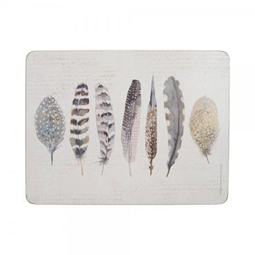 Creative Tops Premium Feather Place Mats 6pk