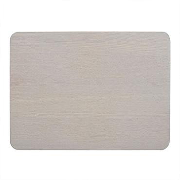 Creative Tops Natural Wood Veneer Placemats Grey 4pk