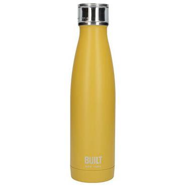 Built 500ml Double Walled Stainleee Steel Water Bottle Mustard