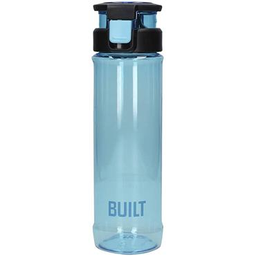 Built 700ml Flip Top Single Walled  Plastic Bottle Blue