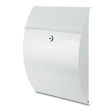 Burg Wachter Post Box Capri White Galvanised Steel