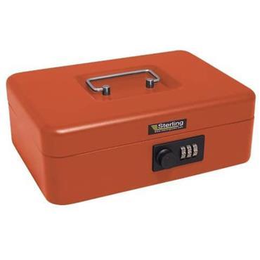 "Burg Wachter Money Cash Box Red Combination Lock 10"""