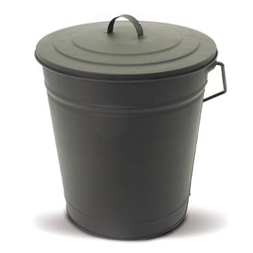 De Vielle Metal Coal Tub & Lid Black