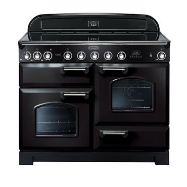 Rangemaster Classic Deluxe 110 Induction Black with Chrome
