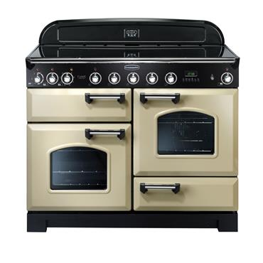 Rangemaster Classic Deluxe 110 Induction Cream with Chrome