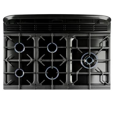 Rangemaster Classic Deluxe 90 Dual Fuel Black with Chrome