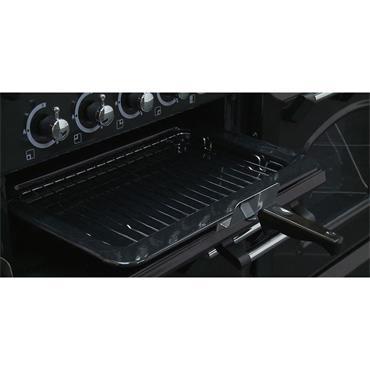 Rangemaster Classic 110 Dual Fuel Black with Chrome