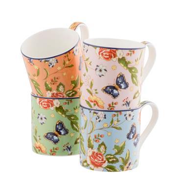 Cottage Garden Windsor Mug (set Of 4)