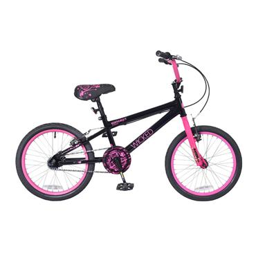 "Concept Wicked 18"""" Girls Bike Black / Pink"