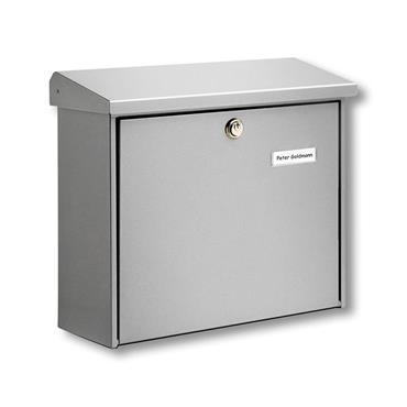 Burg Wachter Post Box Comfort Silver Galvanised Steel