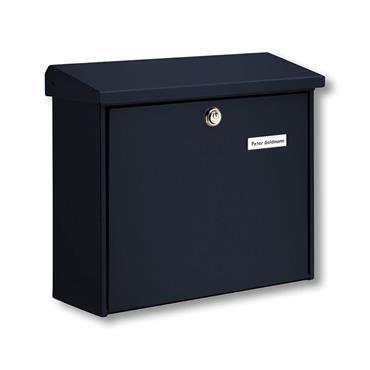 Burg Wachter Post Box Comfort Black Galvanised Steel