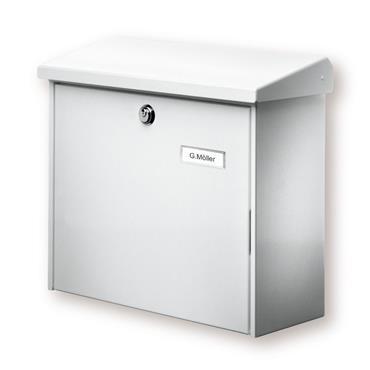 Burg Wachter Post Box Comfort White Galvanised Steel