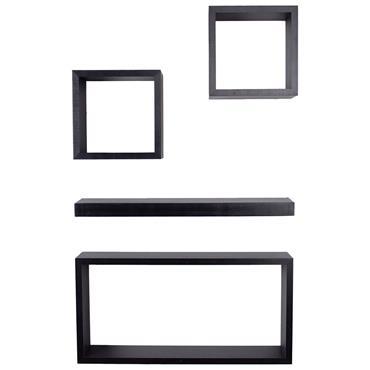 Core Hudson Shelf Kit Matt Black 4pce