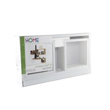Core Hudson Shelf Kit Matt White 4pce