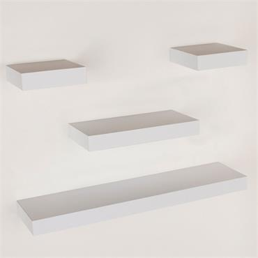Core Narrow Hudson Shelf Pack Matt White 4pce