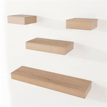 Core Narrow Hudson Shelf Pack Oak Effect 4pce
