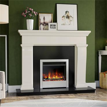 Henley Stoves Aurora 22 Silver Electric Fire