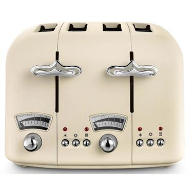 Delonghi Argento 4 Slice Cream Toaster