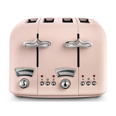 Delonghi Argento Flora 4 Slice Pink Toaster