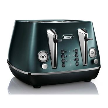 Delonghi Distinta Flair 4 Slice Toaster Matt Metallic Green